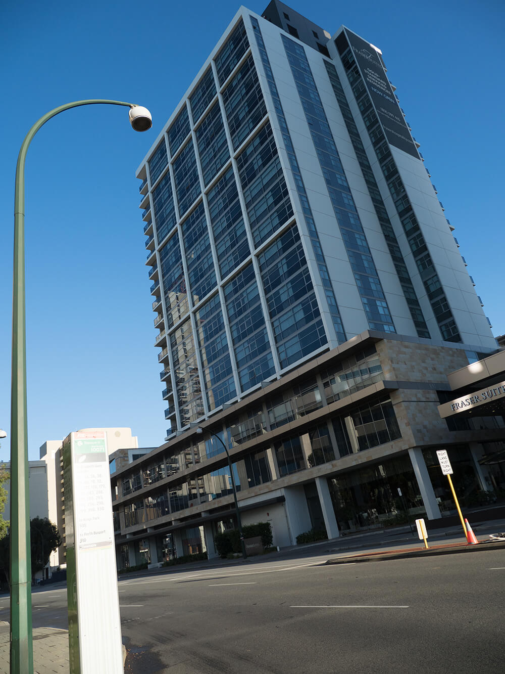 High rise window in Perth